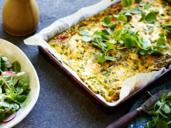 byron bay nutritionist chrissy freer pea fritatta recipe