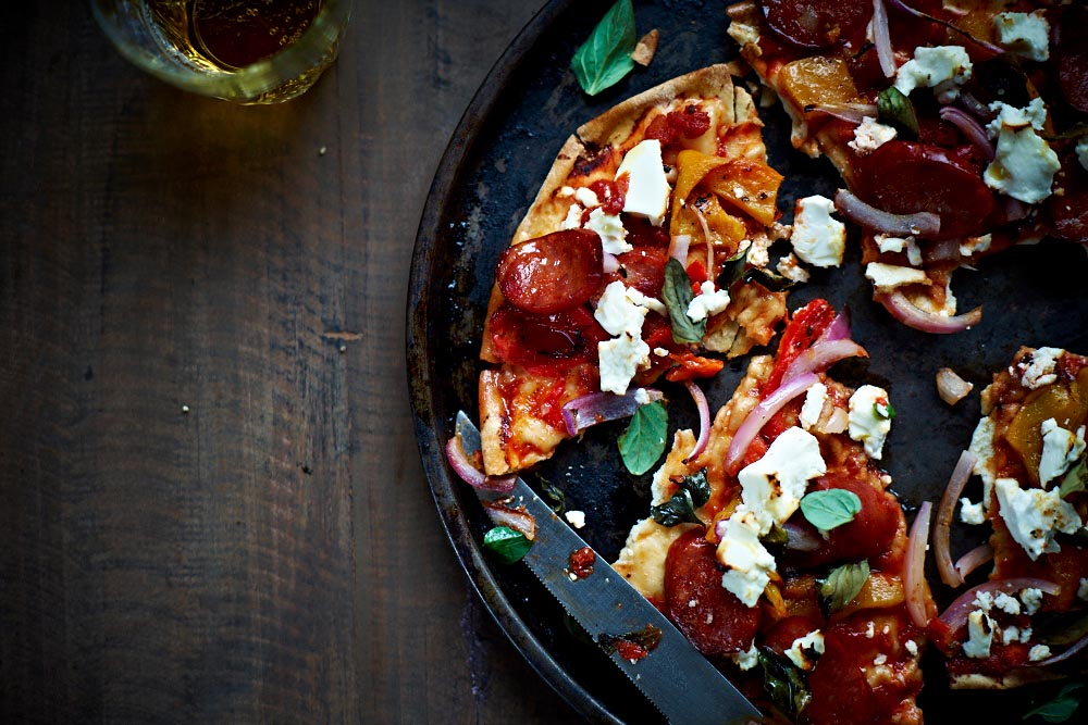 chrissy freer byron bay nutritionist flat bread pizza